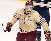Patrick Brown (BC - 23) - The Boston College Eagles defeated the visiting University of Notre Dame Fighting Irish 4-2 to tie their Hockey East quarterfinal matchup at one game each on Saturday, March 15, 2014, at Kelley Rink in Conte Forum in Chestnut Hill, Massachusetts.