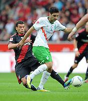 FUSSBALL   1. BUNDESLIGA   SAISON 2011/2012    2. SPIELTAG Bayer 04 Leverkusen - SV Werder Bremen              14.08.2011 Michael BALLACK (li, Leverkusen) gegen Mehmet EKICI (re, Bremen)