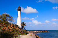 The Cape Florida Lighthouse in Bill Baggs Cape Florida State Park, Key Biscayne, Florida, was built in 1825 and is the oldest building in South Florida.
