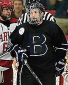 Derek Bacon (Bentley - 22) - The Harvard University Crimson defeated the visiting Bentley University Falcons 5-0 on Saturday, October 27, 2012, at Bright Hockey Center in Boston, Massachusetts.