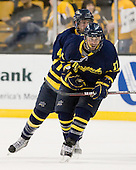 Jordan Heywood (Merrimack - 4), Elliott Sheen (Merrimack - 11) - The Merrimack College Warriors defeated the University of New Hampshire Wildcats 4-1 (EN) in their Hockey East Semi-Final on Friday, March 18, 2011, at TD Garden in Boston, Massachusetts.