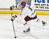 Travis Jeke (BC - 8) - The Boston College Eagles defeated the visiting University of New Hampshire Wildcats 5-2 on Friday, January 11, 2013, at Kelley Rink in Conte Forum in Chestnut Hill, Massachusetts.