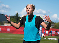 Winnipeg, Canada- June 13, 2015:  The USWNT trained for their final group game in Vancouver during the FIFA Women's World Cup.
