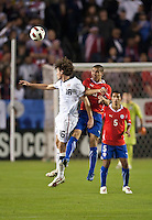 CARSON, CA – JANUARY 22: USA midfielder Mixx Diskerud (16) and Chile midfielder Francisco Silva (6) during the international friendly match between USA and Chile at the Home Depot Center, January 22, 2011 in Carson, California. Final score USA 1, Chile 1.