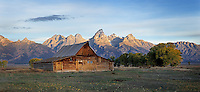 Sunrise on Mormon Barn in Grand Teton National Park