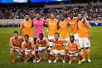 Houston Dynamo starting eleven. The New York Red Bulls defeated the Houston Dynamo 2-0 during a Major League Soccer (MLS) match at Red Bull Arena in Harrison, NJ, on August 10, 2012.