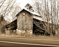 This barn sits on Jedburg Road and is a short distance to I26. Most folks pass by and never see it although it is an interesting sight. Zoom in on the picture and read what's written at the bottom of the barn That's the primary reason why I shot this image.