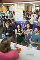 From let, Kristi Kilpatrick, Nicholas Bonenfant, Tracey DaFonte, unkonwn, unknown. COM Ombudsperson table. Student Interest Group fair.