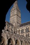 Salisbury Cathedral Church Tower, Salisbury, England, UK