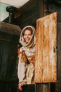 "April 27, 1990, Cinecitta, Rome, Italy. Actress Ornella Muti, on the set of ""Il Viaggio DiCapitan Fracassa"", (The Voyage of Captain Fracassa), Film directed by Ettore Scola."