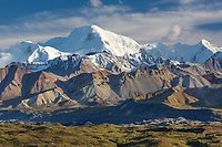Mt Mather of the Alaska Range mountains, Denali National Park, Alaska.