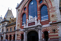 Budapest, Hungary.  The Great Market Hall  is the largest indoor market in Budapest.