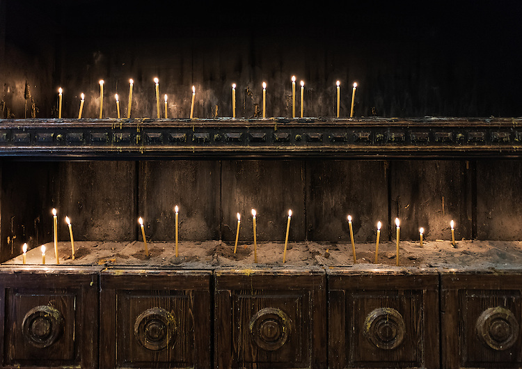 Votive candles.
