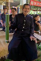 guest  at a traditional funeral in a village in Toraja land, Sulawesi, Indonesia