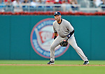 15 June 2012: New York Yankees shortstop Derek Jeter in action against the Washington Nationals at Nationals Park in Washington, DC. The Yankees defeated the Nationals 7-2 in the first game of their 3-game series. Mandatory Credit: Ed Wolfstein Photo