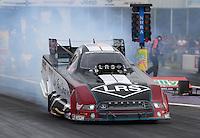 Apr 24, 2015; Baytown, TX, USA; NHRA  funny car driver Tim Wilkerson during qualifying for the Spring Nationals at Royal Purple Raceway. Mandatory Credit: Mark J. Rebilas-