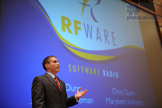 Team RFWare presents during the final event of the McCloskey Business Plan competition, April 18, 2008.