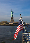 Liberty Enlightening the World (French: La libertÈ Èclairant le monde), known more commonly as the Statue of Liberty (Statue de la LibertÈ), is a colossal statue given to the United States by France in 1886, standing at Liberty Island, in the mouth of the Hudson River in New York Harbor as a welcome to all visitors, immigrants, and returning Americans (Wikipedia).