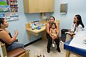 Children's Physicians, Jupiter, Fl. Interpreter, release 20120522010, from left, patient parent, release 20120522009, patient, release 20120522008, Jocelyn Hu, class of 2014.