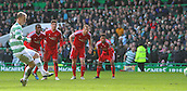 01.03.2015.  Glasgow, Scotland. Scottish Premier League. Celtic versus Aberdeen. Leigh Griffiths scores from the penalty spot for Celtic to make it 2-0