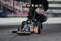 May 5, 2012; Commerce, GA, USA: NHRA top fuel dragster driver Khalid Albalooshi during qualifying for the Southern Nationals at Atlanta Dragway. Mandatory Credit: Mark J. Rebilas-