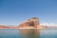 Red sandstone cliffs typical of lake Powell
