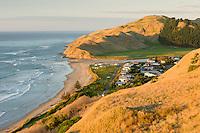 Sunrise on Kairakau Beach settlement, Hawke's Bay, East Coast, North Island, New Zealand, NZ
