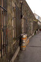 Draft Beer Kegs in a back alley Galway Ireland