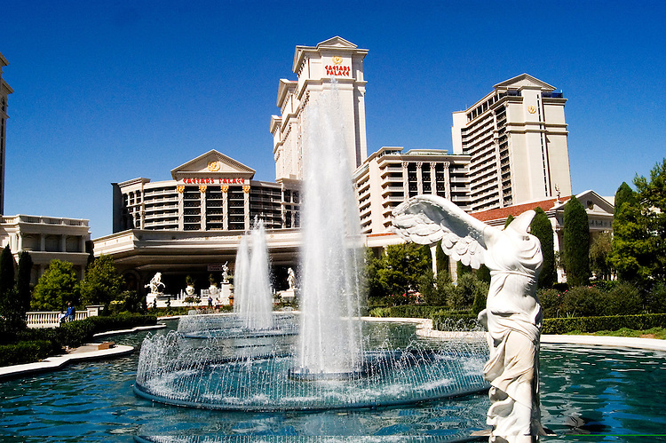 Nevada, NV, Las Vegas, city, statues and fountains in the entrance of Caesars Palace and Casino, sunny, Photo nv290-18276. .Copyright: Lee Foster, www.fostertravel.com, 510-549-2202,lee@fostertravel.com