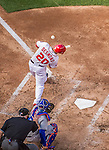 6 April 2015: Washington Nationals shortstop Ian Desmond in action during the Home Opening Game against the New York Mets at Nationals Park in Washington, DC. The Mets rallied to defeat the Nationals 3-1 in their first meeting of the 2015 MLB season. Mandatory Credit: Ed Wolfstein Photo *** RAW (NEF) Image File Available ***