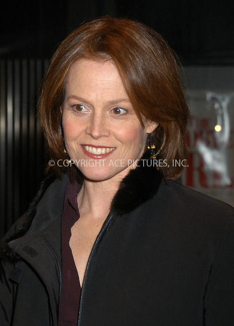 Actress Sigourney Weaver arrives at the special screening of TNT's 'The Goodbye Girl' in New York City. January 12 2004. Please byline: AJ SOKALNER/NY Photo Press.   ..*PAY-PER-USE*      ....NY Photo Press:  ..phone (646) 267-6913;   ..e-mail: info@nyphotopress.com