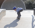 Luke Cadenza (red helmet) and Thomas Cadenza (blue helmet) skateboard at the Oxford Skate Park on Thursday, March 18, 2010.
