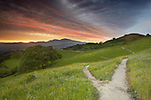 Trails, Mt. Diablo near Walnut Creek, Central California, USA.