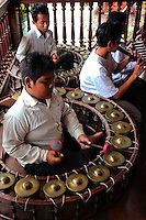 Cambodian Gongs in a traditional Khmer musicians ensemble.