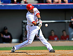 6 March 2011: Washington Nationals' infielder Ian Desmond in action during a Spring Training game against the Atlanta Braves at Space Coast Stadium in Viera, Florida. The Braves shut out the Nationals 5-0 in Grapefruit League action. Mandatory Credit: Ed Wolfstein Photo