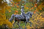 George Washington statue in the Boston Public Garden, Boston, MA