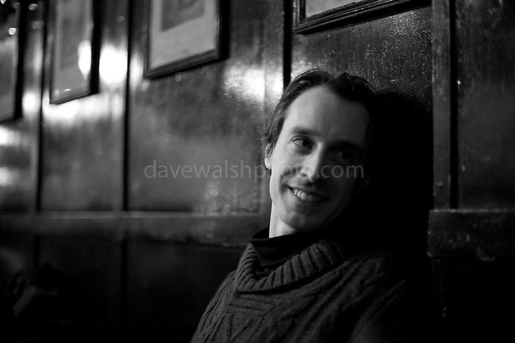 Barry Kavanagh, in The Long Hall pub, Dublin Christmas, 2010
