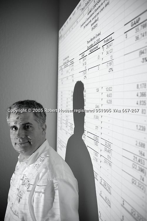 Tony Riley - CFO - Avanex: Executive portrait photographs by San Francisco - corporate and annual report - photographer Robert Houser.