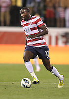 COLUMBUS, OHIO - SEPTEMBER 11, 2012:  Jozy Altidore (17) of the USA MNT pushes forward against Jamaica during a CONCACAF 2014 World Cup qualifying  match at Crew Stadium, in Columbus, Ohio on September 11. USA won 1-0.