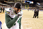 .Green Bay Packers' Jarrett Bush leaves the field after the Packers beat the Bears 21-14..The Green Bay Packers traveled to Soldier Field in Chicago to play the Chicago Bears in the NFC Championship Sunday January 23, 2011. Steve Apps-State Journal.