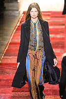 Bette Franke walks runway in an outfit from the Tommy Hilfiger Fall 2011 Bohemian Prep collection, during Mercedes-Benz Fashion Week Fall 2011.