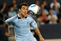 Omar Bravo , KC...Sporting KC and Chicago Fire played to a scoreless tie in the inaugural game at LIVESTRONG Sporting Park, Kansas City, Kansas.