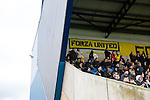 Oxford United 1 Accrington Stanley 2, 20/02/2016. Kassam Stadium, League Two. Oxford's home ground is the Kassam Stadium in Oxford and has a capacity of 12,500. United moved to the stadium in 2001 after leaving the Manor Ground, their home for 76 years. Oxford United support in the East Stand. Photo by Simon Gill.