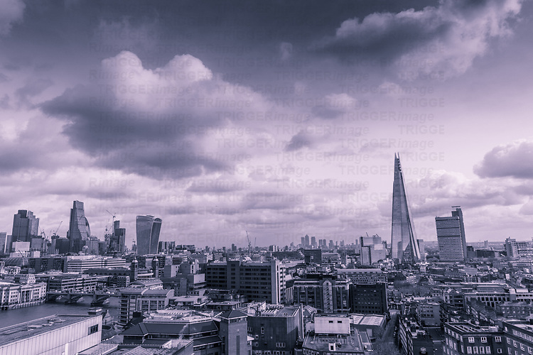A view over London with the Shard
