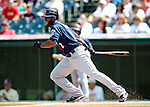 6 September 2009: Minnesota Twins' left fielder Denard Span in action against the Cleveland Indians at Progressive Field in Cleveland, Ohio. The Indians defeated the Twins 3-1 to take the rubber match of their three-game weekend series. Mandatory Credit: Ed Wolfstein Photo