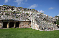 The Great Palace? square with building, Puuc Architecture, 600-900 AD, Kabah, Yucatan, Mexico. Picture by Manuel Cohen