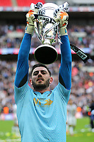 Millwall's Tom King celebrates winning the Division One Play-Off Final during Bradford City vs Millwall, Sky Bet EFL League 1 Play-Off Final at Wembley Stadium on 20th May 2017