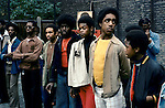BLACK TEENAGE BOYS AT NOTTING HILL CARNIVAL, LONDON 1970's