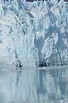close up detail of Marjorie glacier, and its reflection in the bay, in Glacier National Park,Alaska