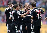 FUSSBALL   1. BUNDESLIGA  SAISON 2011/2012   34. Spieltag 1. FC Koeln - FC Bayern Muenchen        05.05.2012 Toni Kroos, Philipp Lahm, Arjen Robben, Thomas Mueller (v.li., FC Bayern Muenchen)